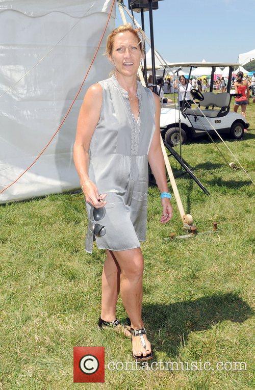 Edie Falco attend Super Saturday 13 designer garage...