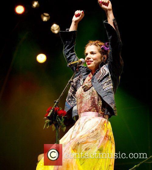 Vanessa Da Mata performs live at the Super...