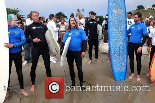 Martyn Lenoble, Anthony Kiedis, Austin Nichols Surfrider Foundation's...