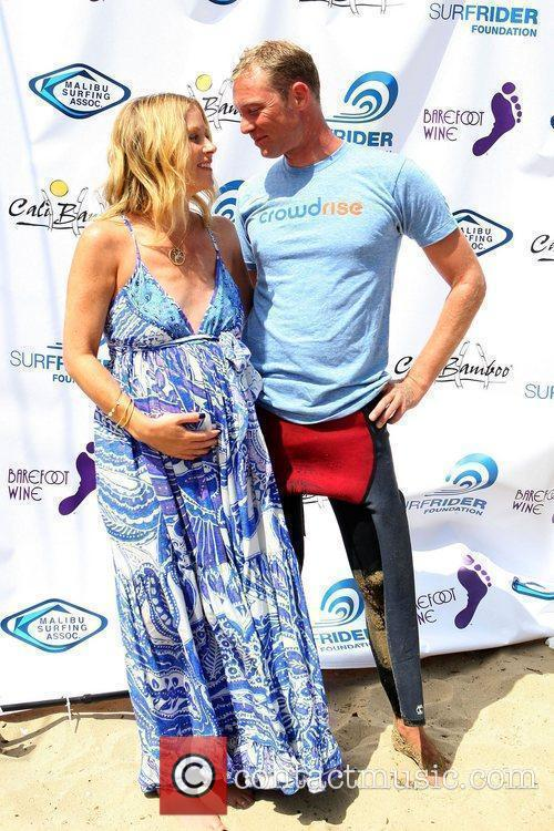 Christina Applegate and Martyn Lenoble Surfrider Foundation's 5th...