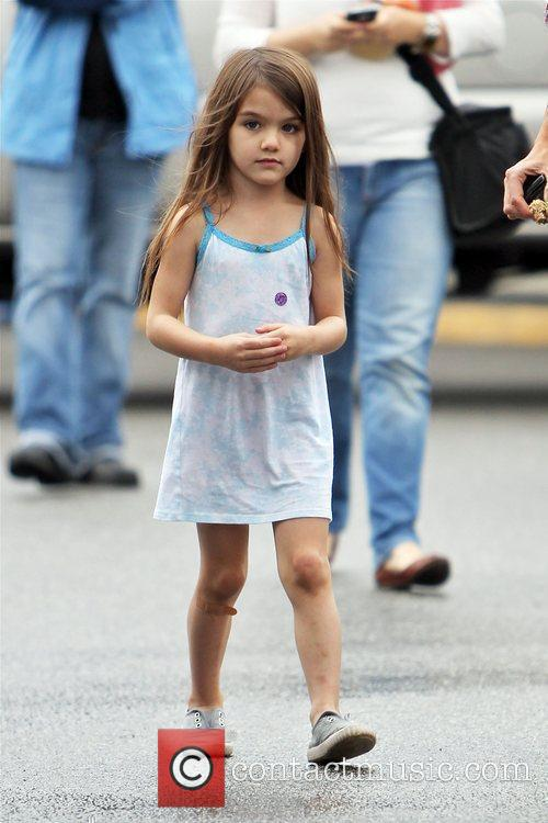 Suri Cruise arrives on the set of Jack...