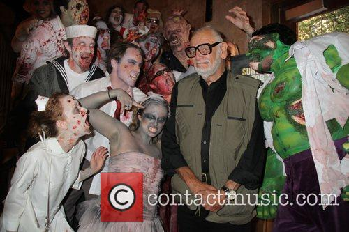George A. Romero with Zombies Premiere of 'Survival...