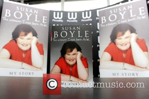 Atmosphere Susan Boyle signs copies of her autobiography...