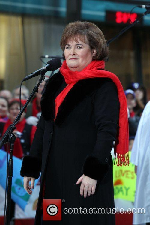 Susan Boyle  performs on NBC's 'Today' show...
