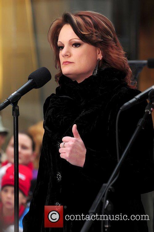 Amber Stassi performing live at Rockefeller Center as...