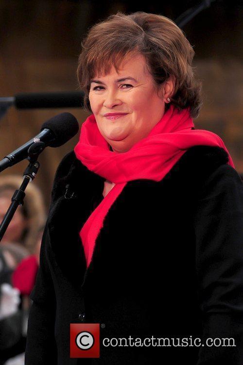 Susan Boyle performing live at Rockefeller Center as...