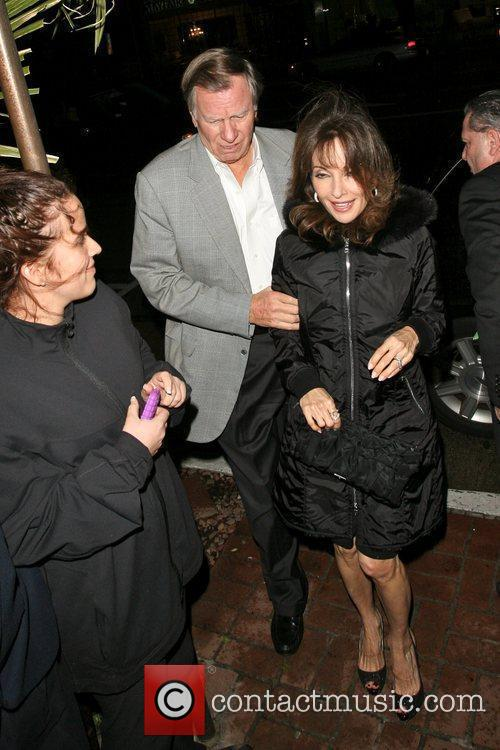 Arriving at Madeo restaurant in West Hollywood