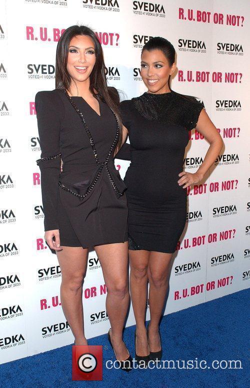 Kim and Kourtney Kardashian Svedka Vodka's hosts R.U.Bot...