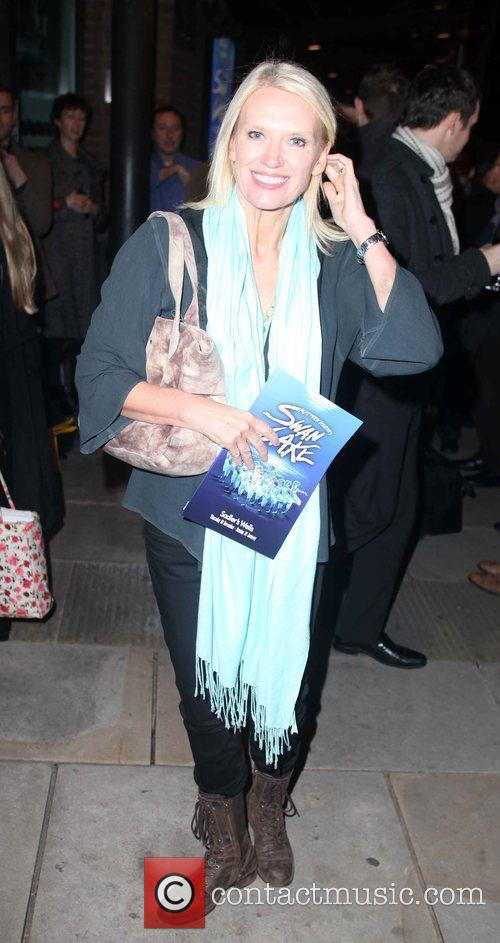 Anneka Rice  arriving for Matthew Bourne's Swan...