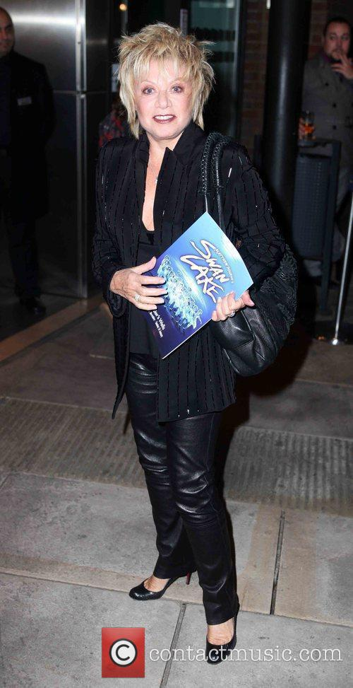 Arriving for Matthew Bourne's Swan Lake at the...