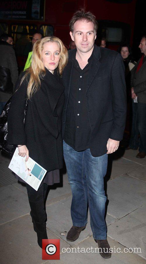 Gillian Anderson arriving for Matthew Bourne's Swan Lake...