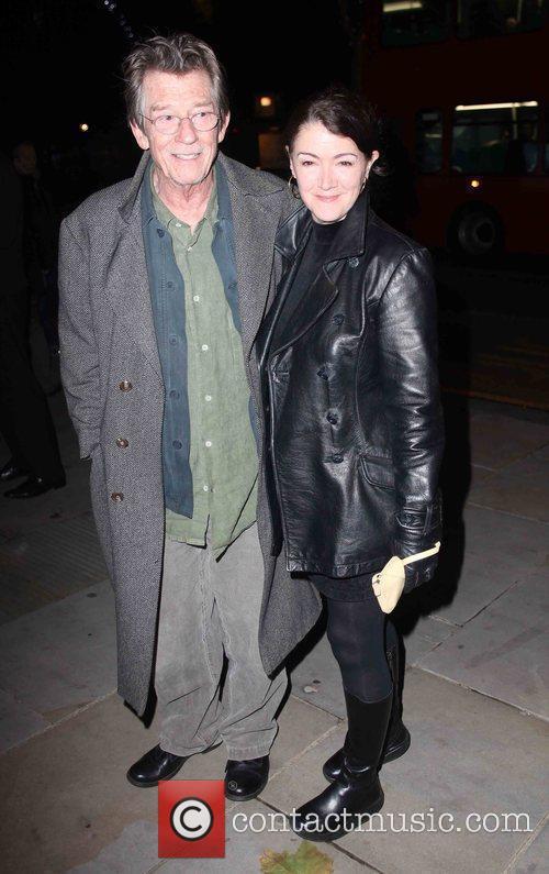 John Hurt  arriving for Matthew Bourne's Swan...