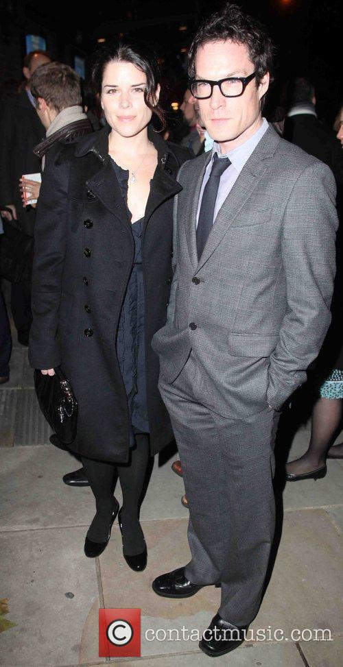 Neve Campbell  arriving for Matthew Bourne's Swan...