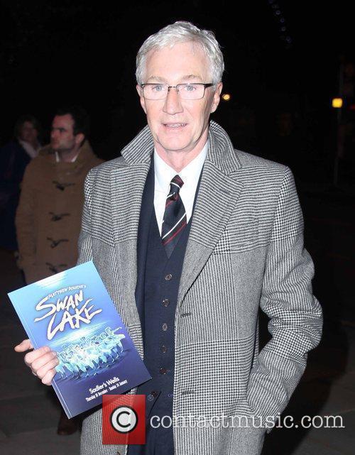 Paul O'Grady arriving for Matthew Bourne's Swan Lake...
