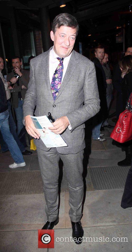 Stephen Fry  arriving for Matthew Bourne's Swan...