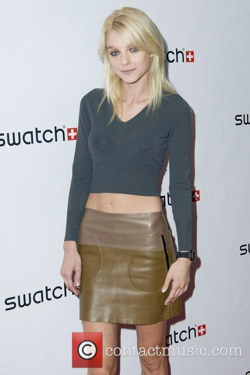 Jessica Stam The launch of Swatch 'New Gents...