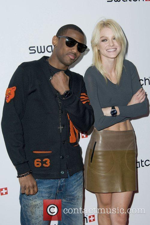 Jessica Stam and Fabolous The launch of Swatch...