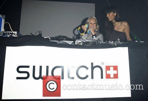 Head of Swatch Arlette-Elsa Emch and Jameela Jamil...