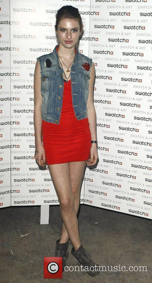 Tali Lennox attends the Swatch Art Party held...
