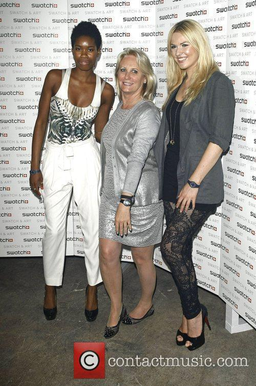 Tolula Adeyemi, Arlette-Elsa Emch and Zoe Salmon attends...