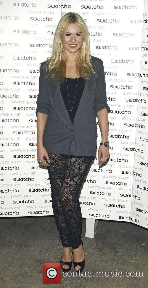 Zoe Salmon attends the Swatch Art Party held...