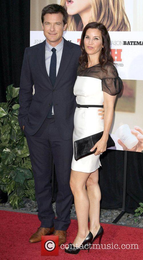 Jason Bateman and wife Amanda Anka arrive to...