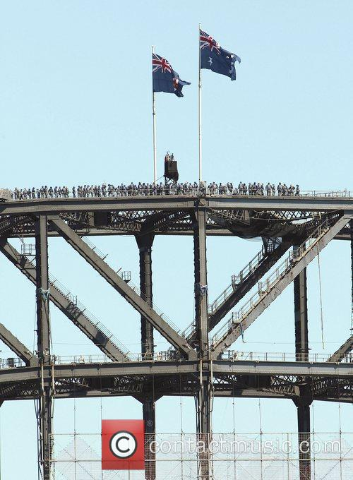Oprah Winfrey  celebrated climbing the Sydney Harbour...