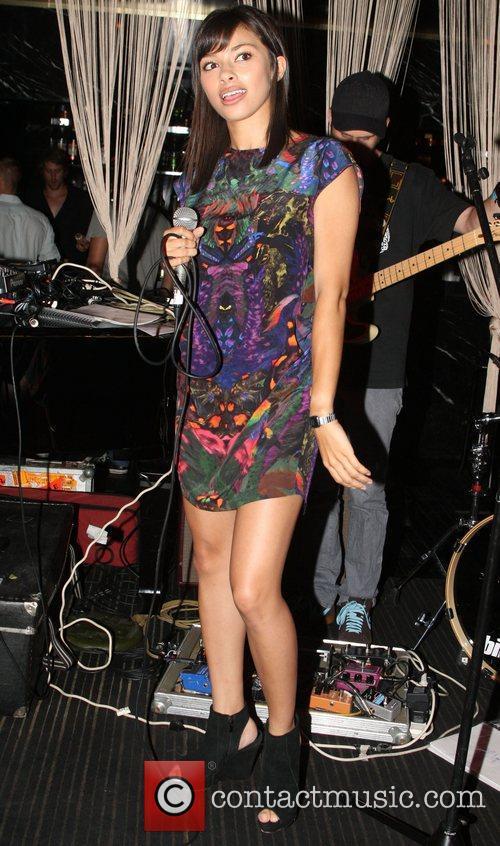 Amali Ward The Coco Riche bikini label holds...