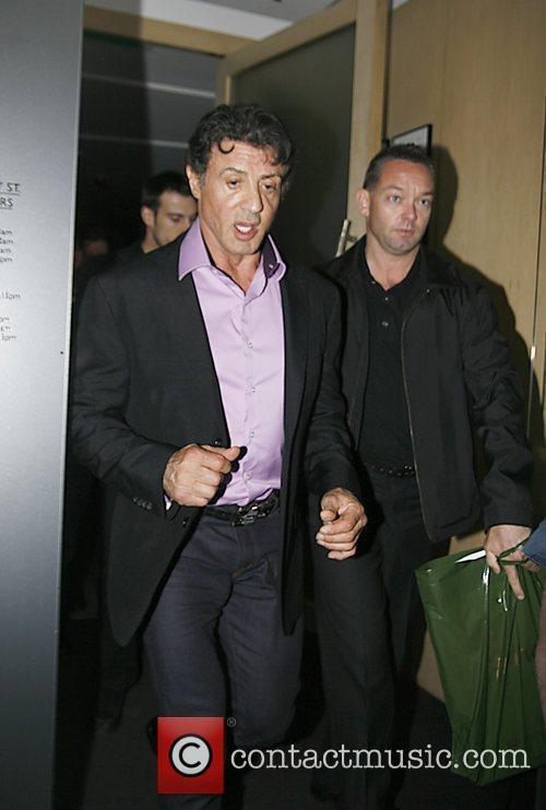 Sylvester Stallone leaving Nobu Restuarant in London's Mayfair...