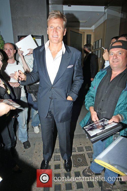 Dolph Lundgren  leaving Nobu Restaurant in London's...