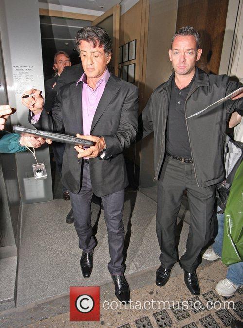 Sylvester Stallone leaving Nobu Restaurant in London's Mayfair...