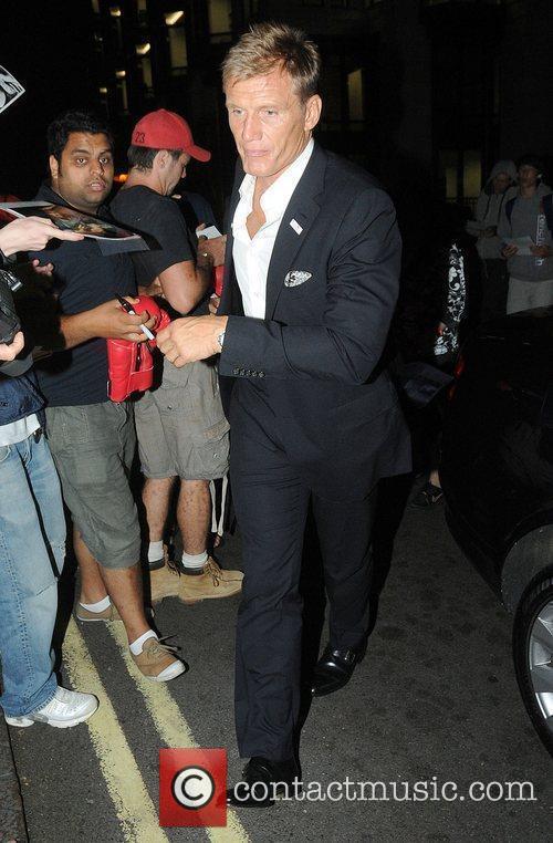 Dolph Lungdren arrives back at The Dorchester Hotel...