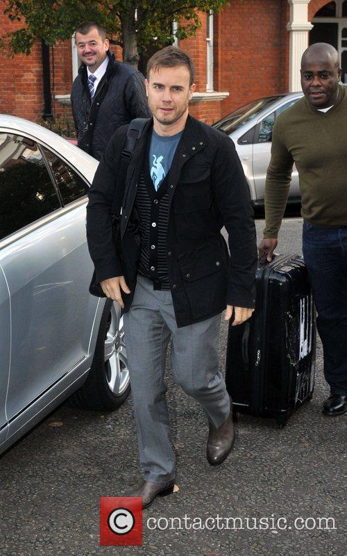 Gary Barlow of Take That arriving at Maida...