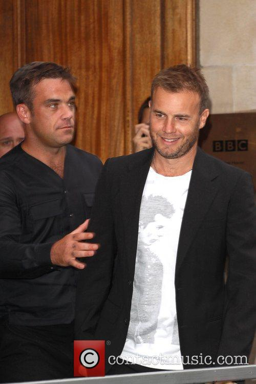 Take That, Chris Moyles, Gary Barlow, Robbie Williams