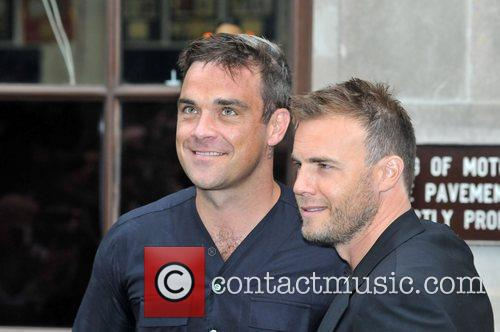 Take That, Chris Moyles, Gary Barlow and Robbie Williams 25