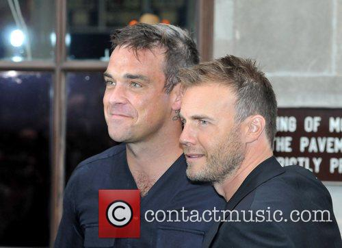 Take That, Chris Moyles, Gary Barlow and Robbie Williams 28