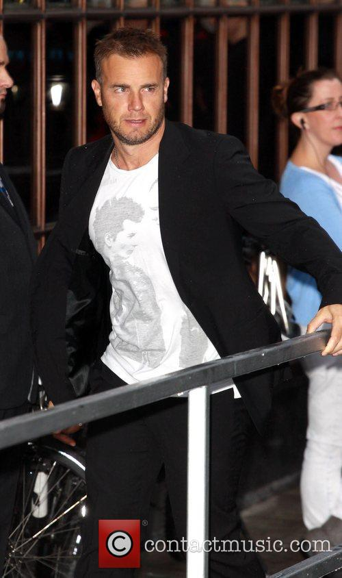Arrives at the Radio One studios for an...
