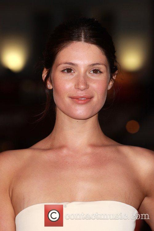 Gemma Arteton, with visible stretch marks above her...