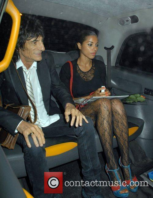 Ronnie Wood and Ana Araujo 3