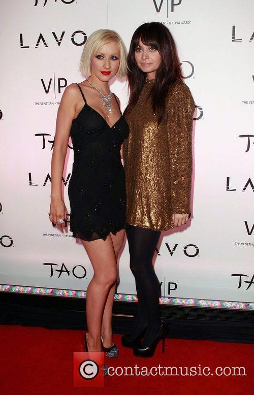 Christina Aguilera and Nicole Richie  TAO at...