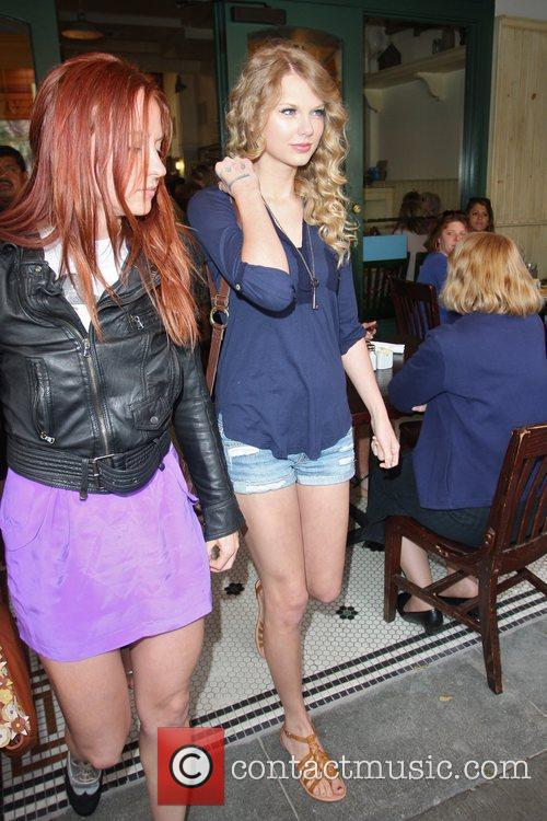 Taylor Swift, friends leaving The Farm restaurant in Beverly Hills, stop by Coffee Bean and Tea Leaf next door to pick up coffee. 21