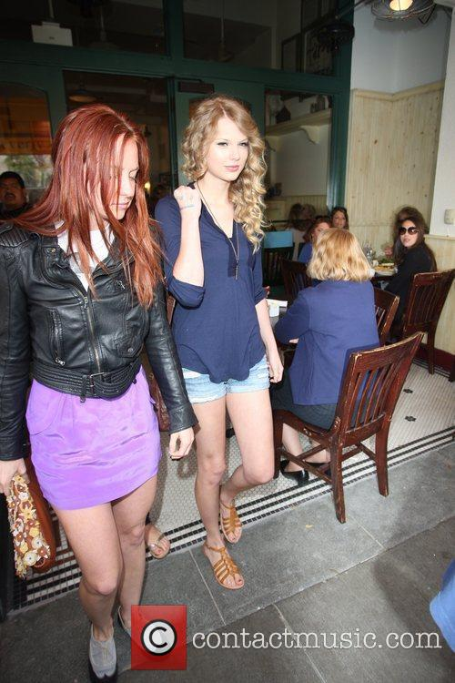 Taylor Swift, friends leaving The Farm restaurant in Beverly Hills, stop by Coffee Bean and Tea Leaf next door to pick up coffee. 29
