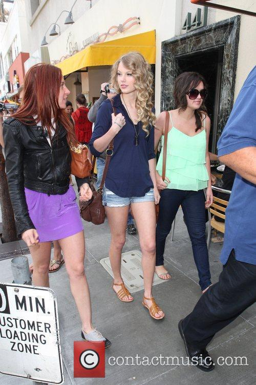 Taylor Swift, friends leaving The Farm restaurant in Beverly Hills, stop by Coffee Bean and Tea Leaf next door to pick up coffee. 23
