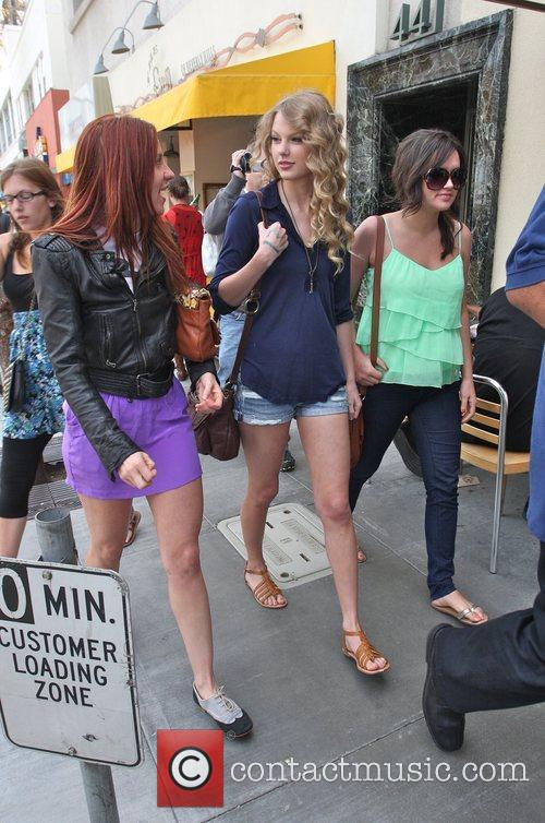 Taylor Swift, friends leaving The Farm restaurant in Beverly Hills, stop by Coffee Bean and Tea Leaf next door to pick up coffee. 22