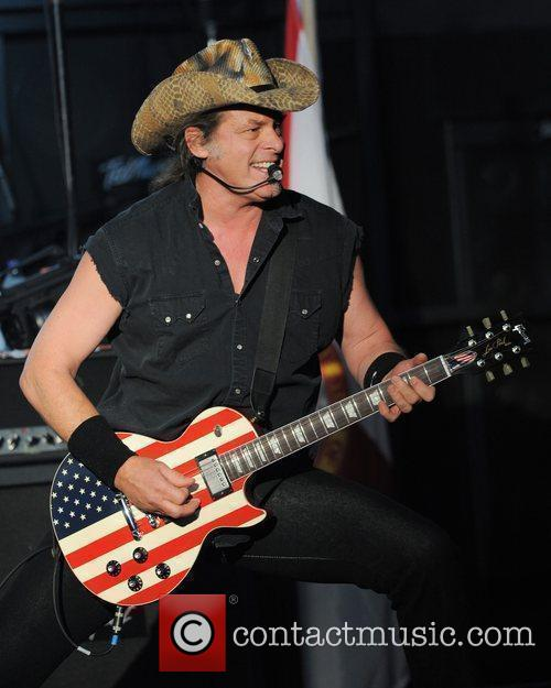 Ted Nugent performs during his 'Trample the Weak...