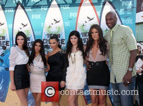 Kendall Jenner, Khloe Kardashian, Kim Kardashian, Kourtney Kardashian, Lemar and Teen Choice Awards