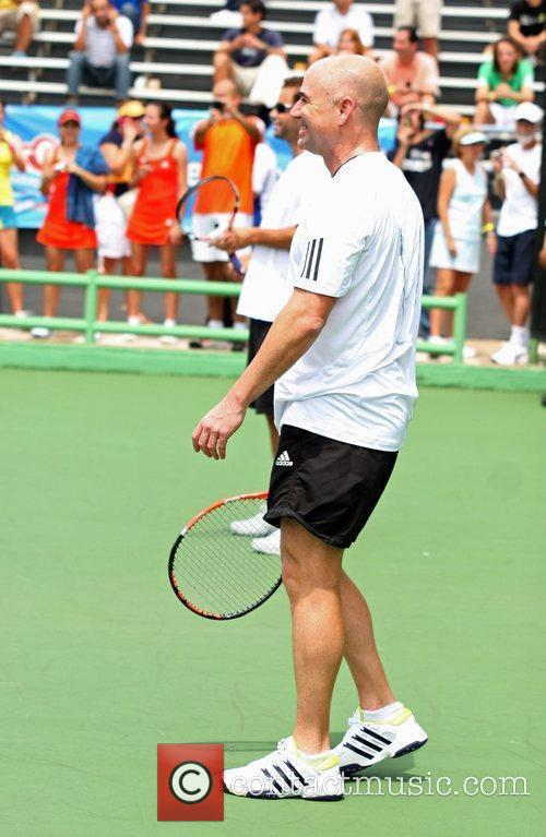 Andre Agassi Tennis pros Andre Agassi and Pete...
