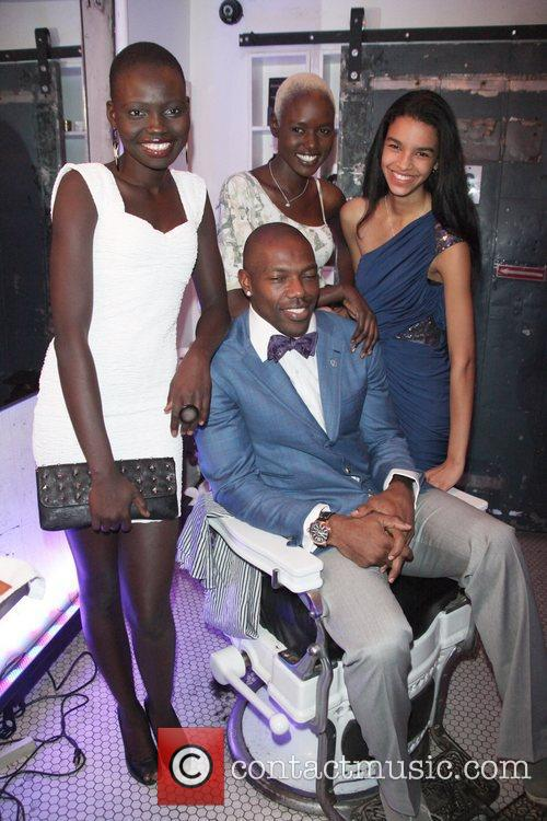 Terrell Owens, Sammi Sweetheart Giancola and models Terrell...