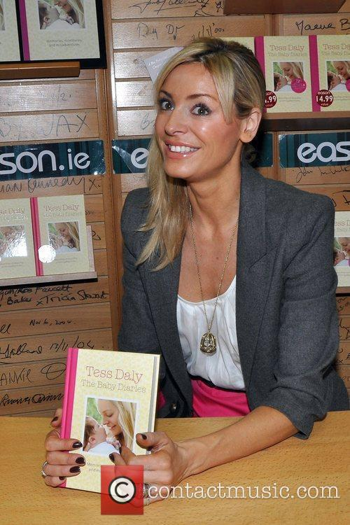 Tess Daly signs copies of her new book...
