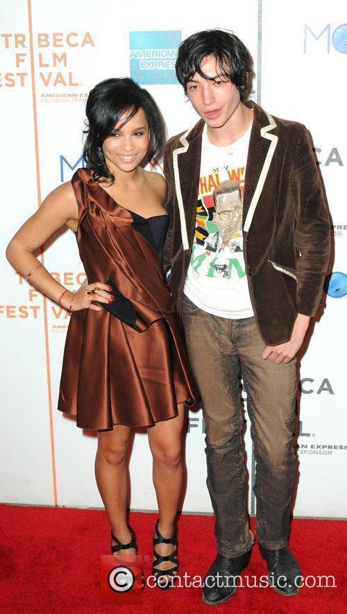 Zoe Kravitz and Ezra Miller 9th Annual Tribeca...